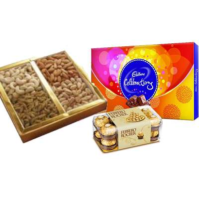 Mixed Dry Fruits with Ferrero Rocher & Celebration