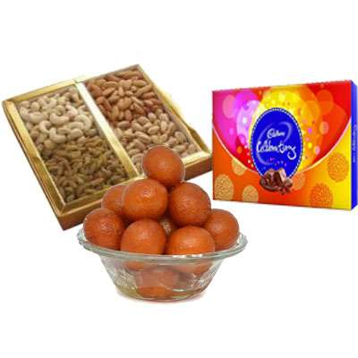 Mixed Dry Fruits with Gulab Jamun & Celebration