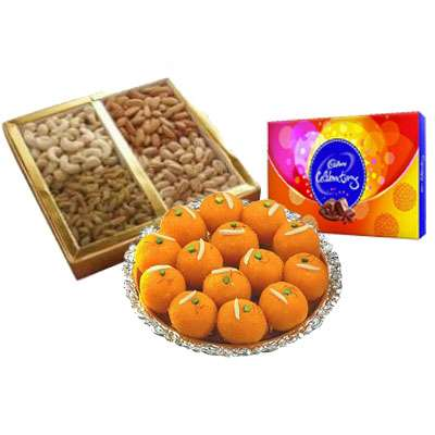 Mixed Dry Fruits with Ladoo & Celebration