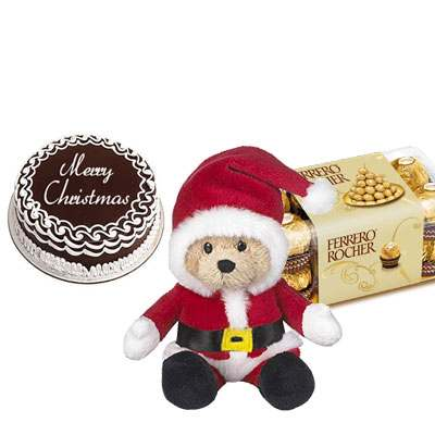 Christmas Cake with Santa Claus & Ferrero Rocher