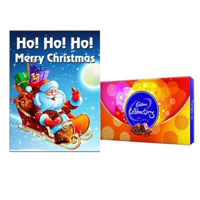 Christmas Greeting Card with Cadbury Celebration