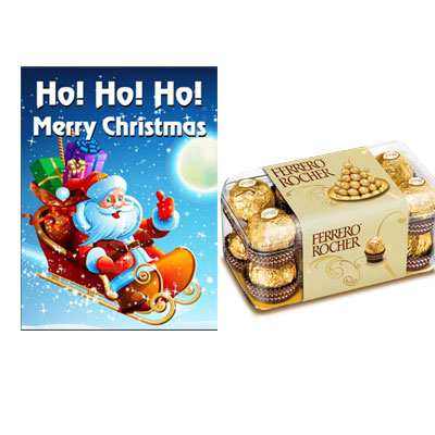 Christmas Greeting Card with Ferrero Rocher