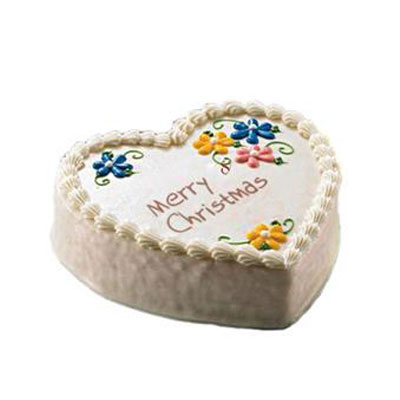 Heart Christmas Pineapple Cake