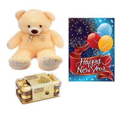 Ferrero Rocher with Card & Teddy Bear