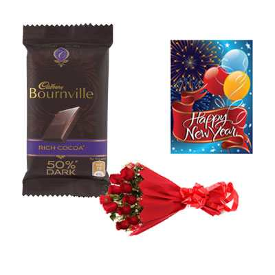 Bournville Chocolates, Card & Roses