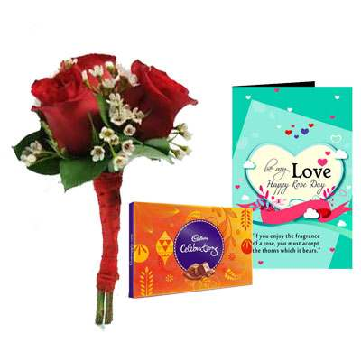 Bouquet, Celebration & Rose Day Greeting Card