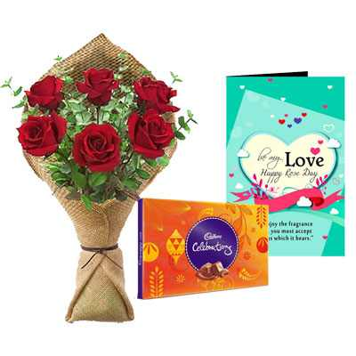 Rose Bouquet, Celebration & Rose Day Greeting Card
