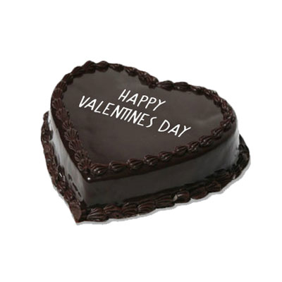 Valentine Chocolate Heart Shape Cake