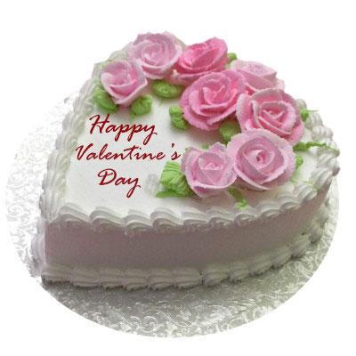 Valentines Flowery Vanilla Cake
