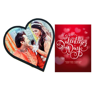 Personalized Love Puzzle & Card