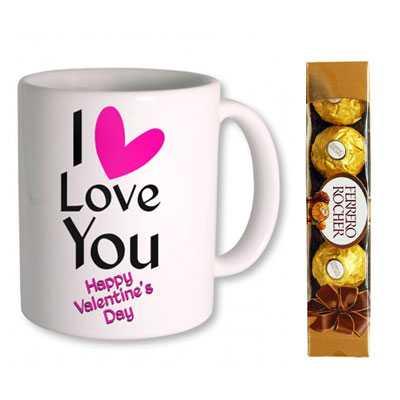 I Love You Valentine Day Mug & Ferrero