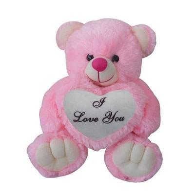 24 Inch I Love You Pink Teddy Bear