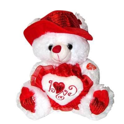 24 Inch I Love You White Teddy Bear