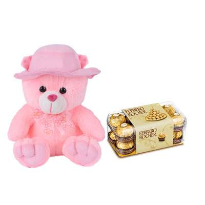 16 Inch Teddy with Ferrero Rocher