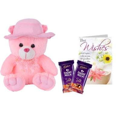 16 Inch Teddy Bear with Silk & Card