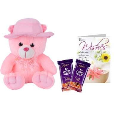 16 Inch Teddy Bear with Silk & Card