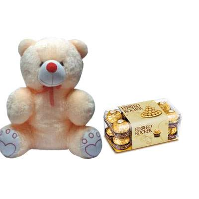 20 Inch Teddy with Ferrero Rocher
