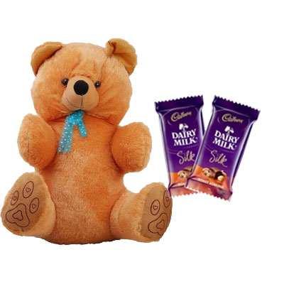 40 Inch Teddy with Silk