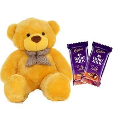 36 Inch Teddy with Silk