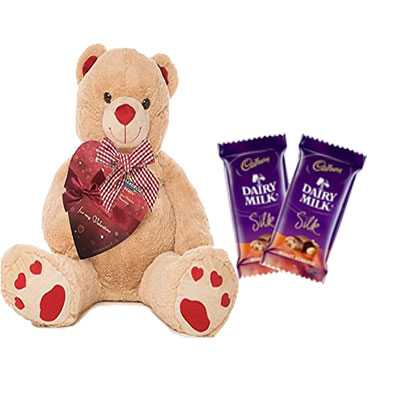 Big Teddy with Silk Chocolates