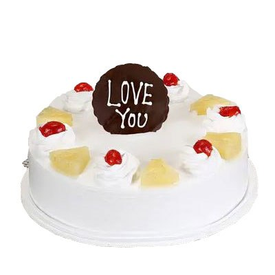 Love You Pineapple Cake