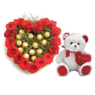 Roses with Ferrero Rocher & Teddy