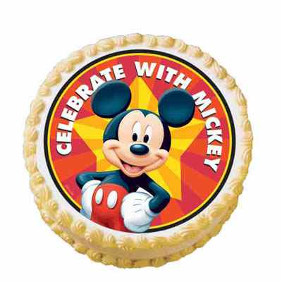 Mickey Mouse Photo Cake Round