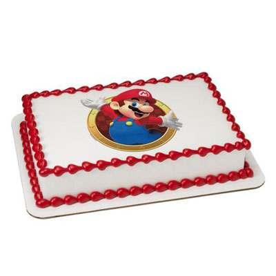 Mario Photo Cake Square