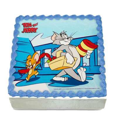 Tom & Jerry Photo Cake