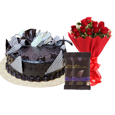 Chocolate Cream Cake, Bouquet & Bournville