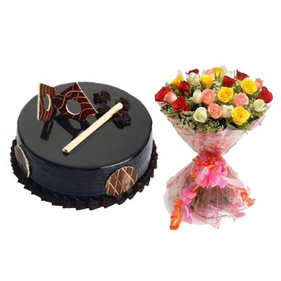 Chocolate Royal Cake & Mix Bouquet