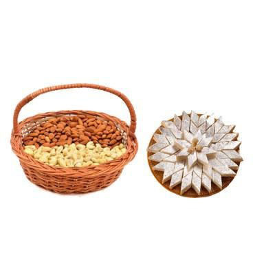 Almonds, Cashew & Kaju Burfi