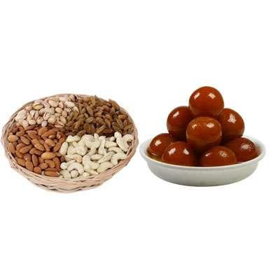 Mixed Dry Fruits & Gulab Jamun