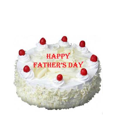 Fathers Day White Forest Cake