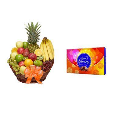 Fruit Basket with Celebration