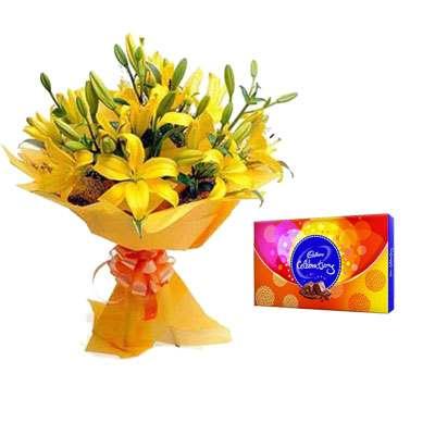 Yellow Lily & Celebration