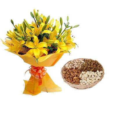 Yellow Lily & Dry Fruits