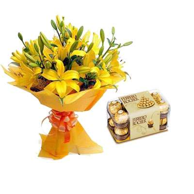 Yellow Lily & Ferrero