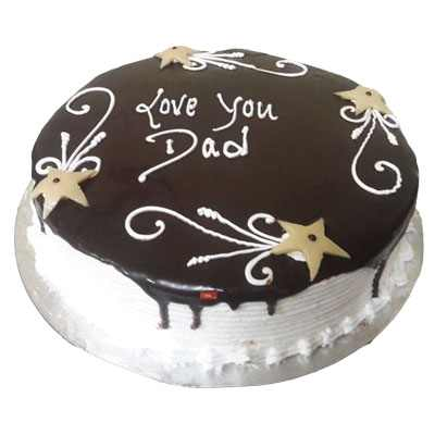 Love you Dad Choco Vanilla Cake