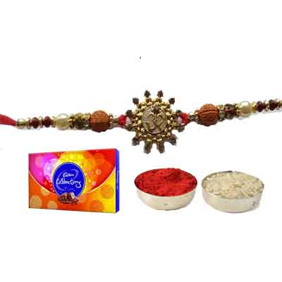 Beautiful Om Rakhi For Brother With Celebration