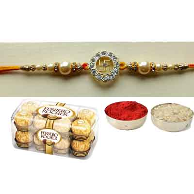 Swastik Rakhi With Ferrero