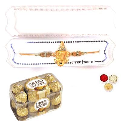 Shri Ganesha Rakhi With Ferrero