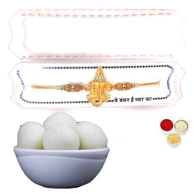 Shri Ganesha Rakhi With Rasgulla