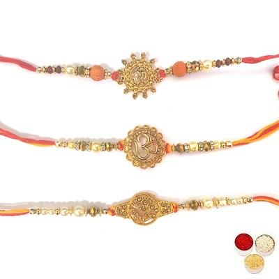 Set Of 3 Om Rakhi