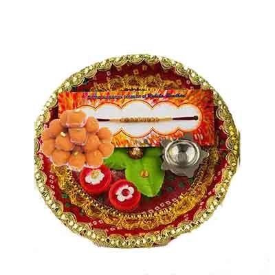 Beautiful Rakhi Thali with Laddu