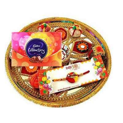 Rajasthani Rakhi Thali with Celebration