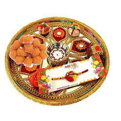 Rajasthani Rakhi Thali with Laddu