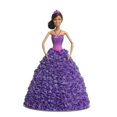 Ballerina Purple Sparkle Barbie Doll Cake