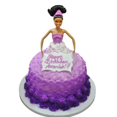 Birthday Barbie Cutout Cake