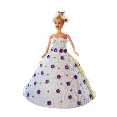 Purple Doll Cake